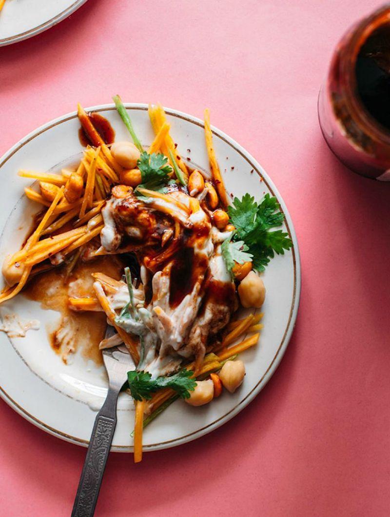 5 gesunder salat mit kichererbsen und kürbis muskatkürbis zubereiten