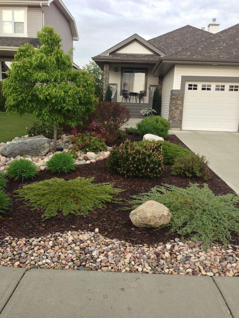 grüne pflanzen hauseingang vorgarten modern gestalten