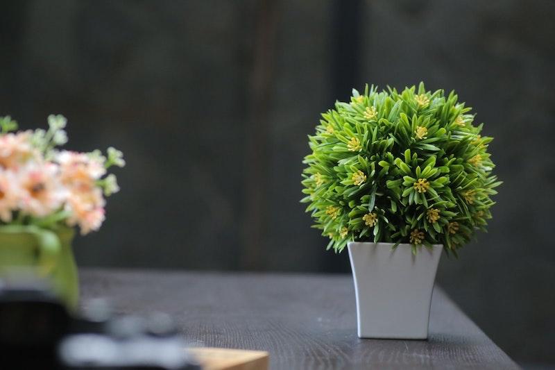 kunstpflanzen balkon pflanzen wanddeko kunstblumenstrauß blumen deko kunstpflanzen discount mini busch im topf