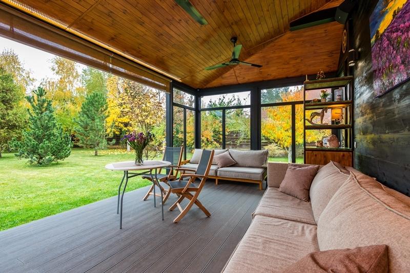 moderne terassen deko bequeme terrassenmöbel