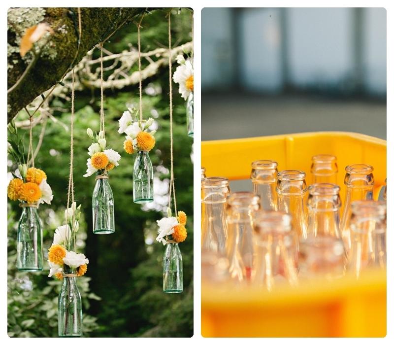 upcycling ideen für den garten diy gartendeko vasen aus glasflaschen