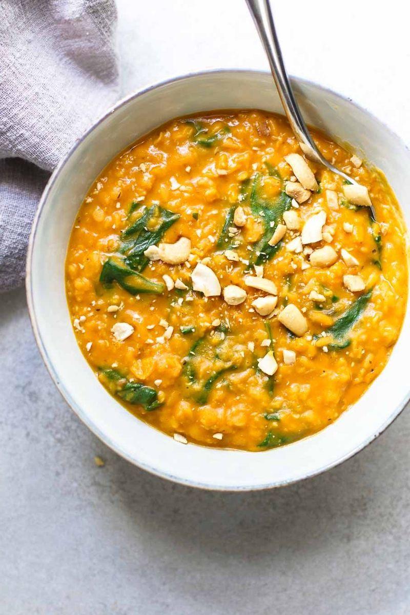 vorspeise zubereiten idee gerichte mit kürbis und spinat kochen