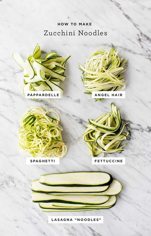 zucchini einfrieren roh zudeln nudeln zoodles