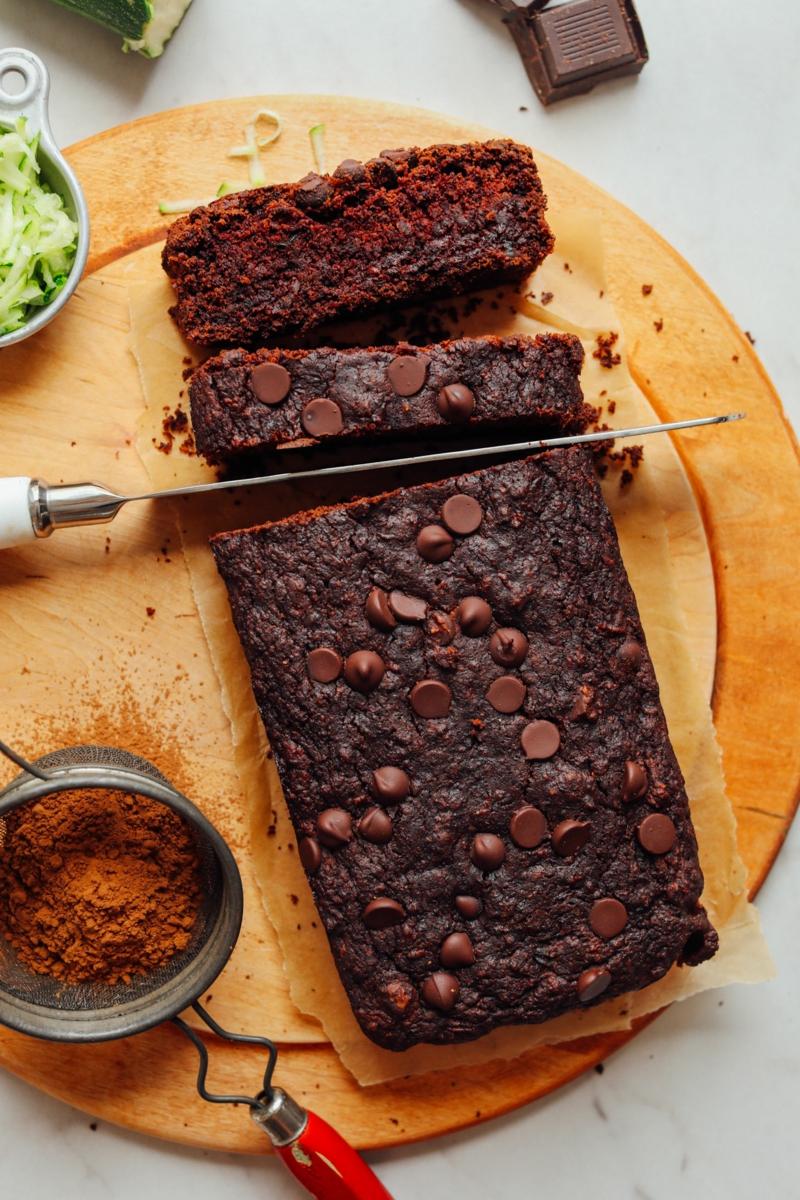 4 glutenfreies brot rezept mit zucchini und schokoladenstückchen