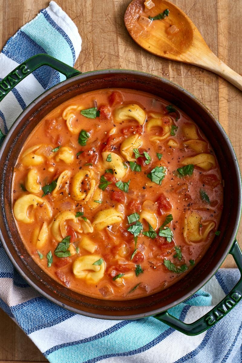 5 tomaten tortellini suppe rezepte herbst ideen