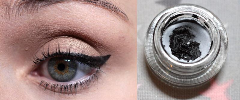 cat eye makeup eyeliner auftragen gel.eyeliner schwarz auftragen