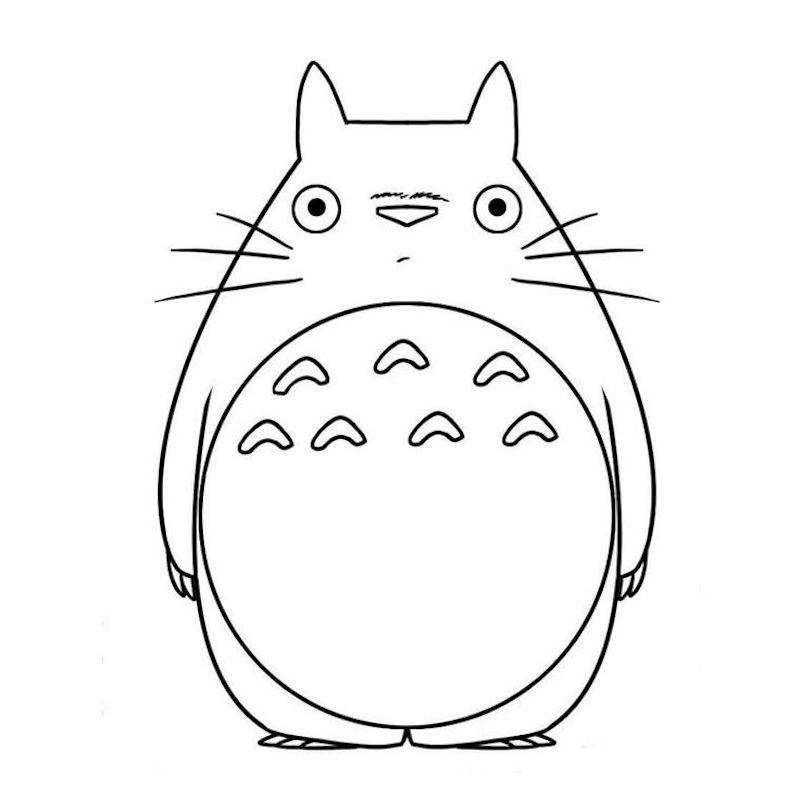 coole zeichnungen totoro japanischer film illustriert mit bleistift