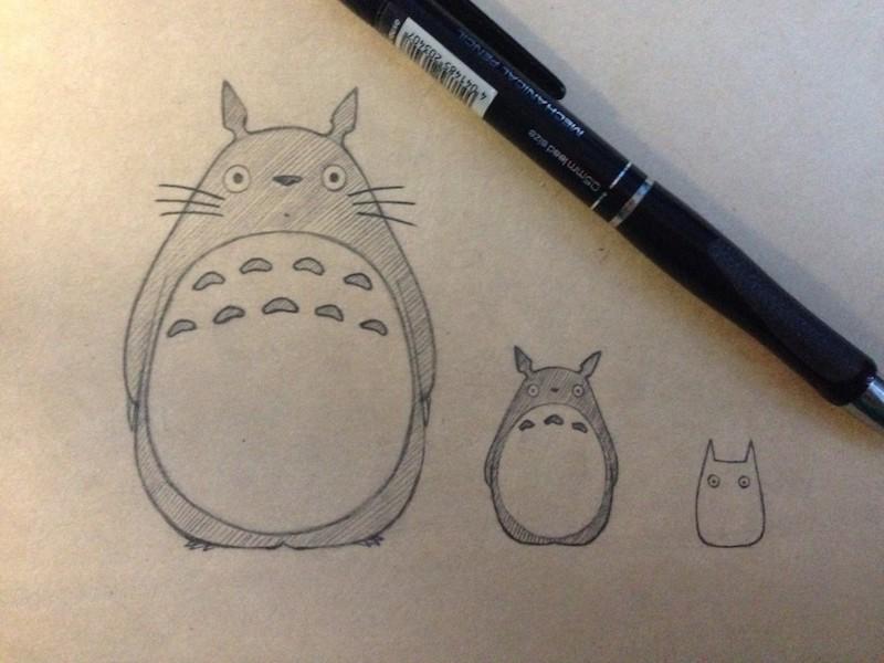 einfache zeichen ideen für anfänger totoro illustriert mit bleistift
