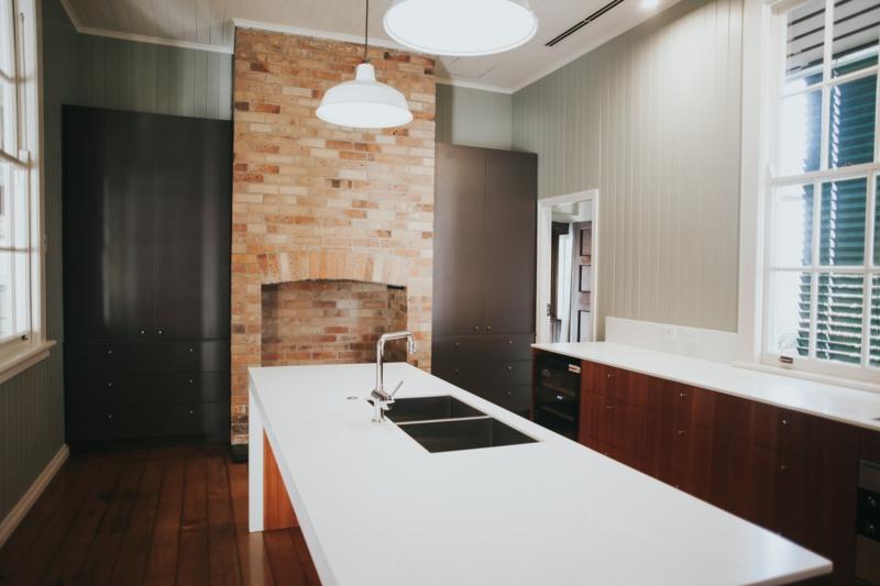 große küche einrichtung plissees sichtschutz