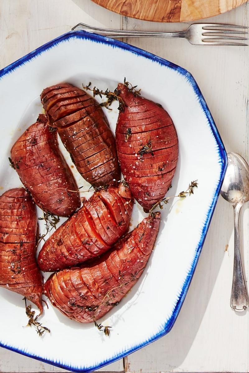 herbstliche rezepte zum abendessen süßkartoffeln gericht