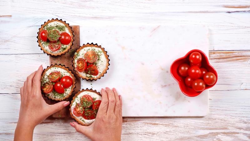 tomaten tarte rezept torteletts mit ricotta und thymian