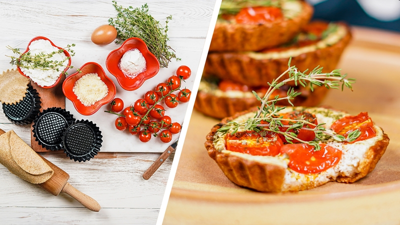 tomaten tarte tomatentarte tomatentorteletts selber machen zubereitungsweise