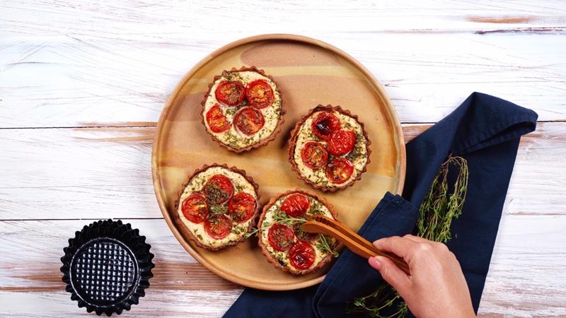 tomaten tarte torteletts selber machen fingrfood ideen