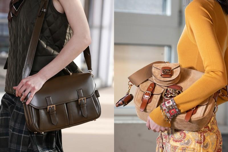 trendfarben 2021 herbst winter was trägt man im herbst 2021 messanger bag zwei modelle in beige braun