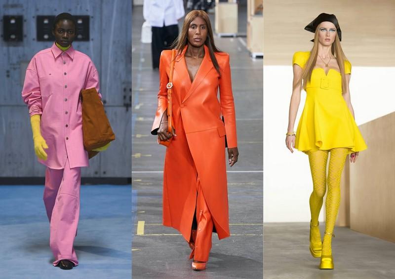 trendfarben 2021 winter herbst pantone trendfarben 2021 rosa orange gelb outfits