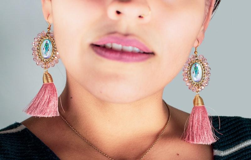 vintage schmuck trends 2021 für damen ohrringe accessoires rosa mit quaste vintage