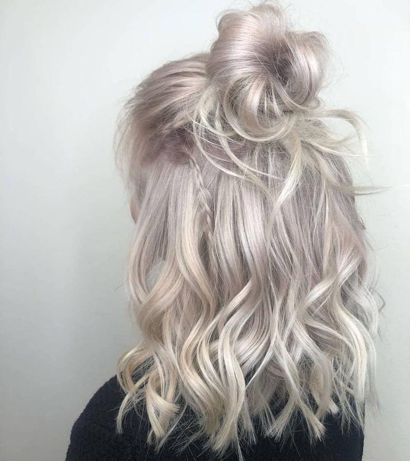 bob graue haare mädchen mit mittellangem haar