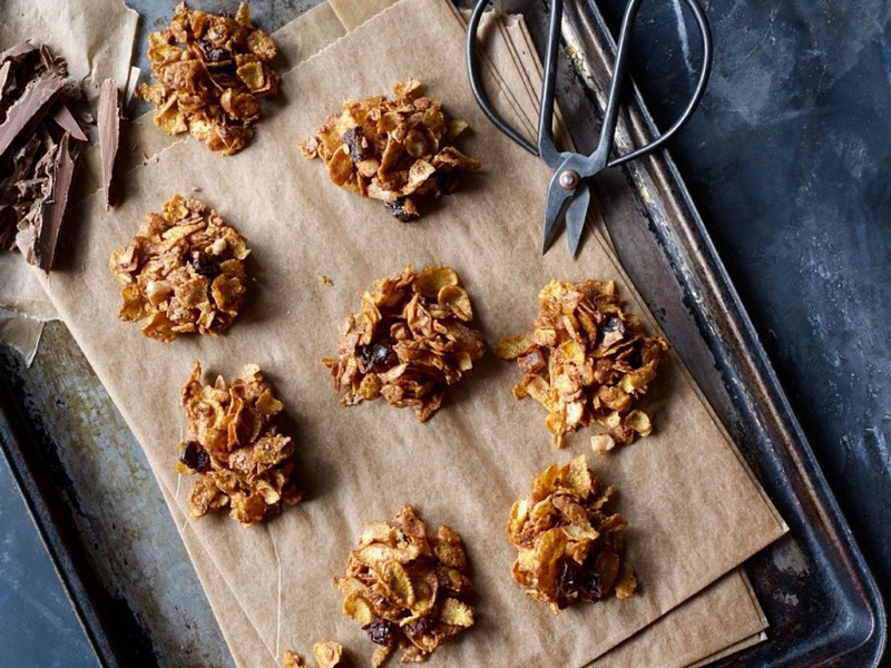 cornflakes schoko crossies mit beeren schokolade rezept für schoko crossies auf backblech