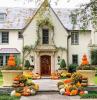 eingangsbereich gestalten für den herbst halloween deko ideen