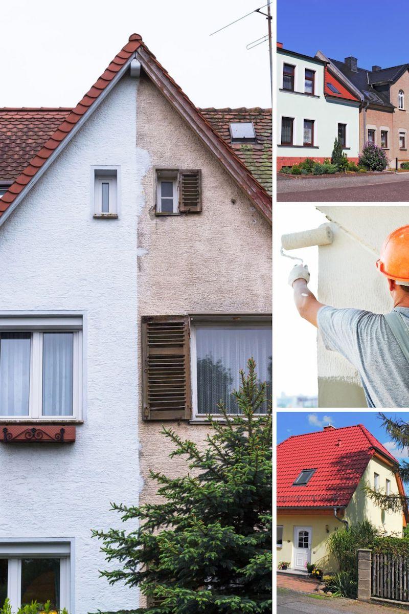 fassade reinigen und streichen hausfassade straichen in 4 bilder
