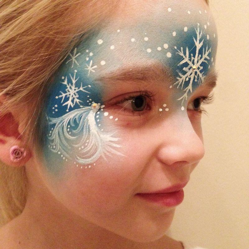 kinderschminken frozen mädchen mit schminke für halloween