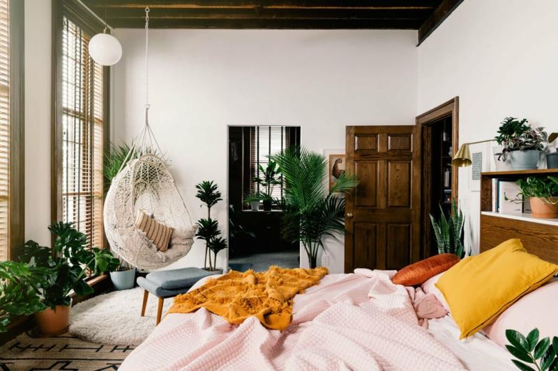 moderne einrichtung welche pflanzen im schlafzimmer