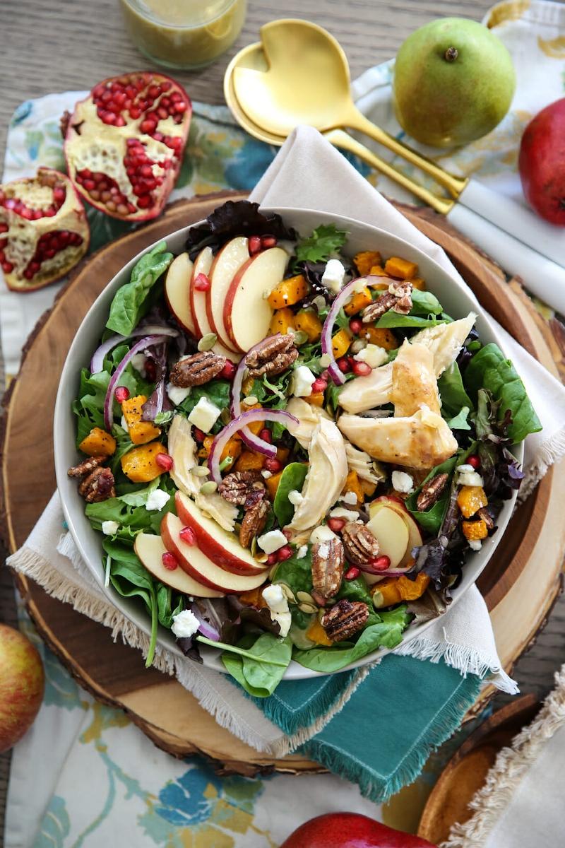 rezept für herbst salat mit apfel zubereiten mittagessen ideen und inspo