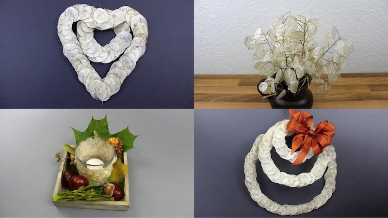 schnelle herbstdeko mit naturmaterialien silberblatt kastanien