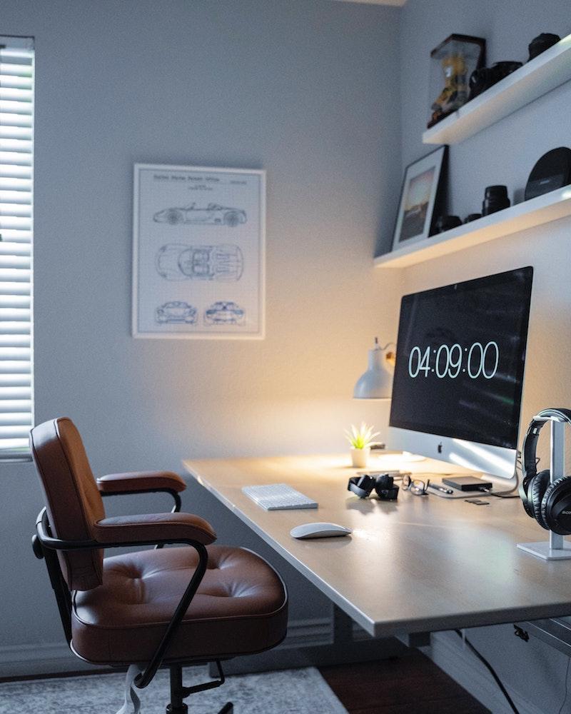 schreibtischstuhl büro ergonomischer bürostuhl auswählen leder brauner bürostuhl