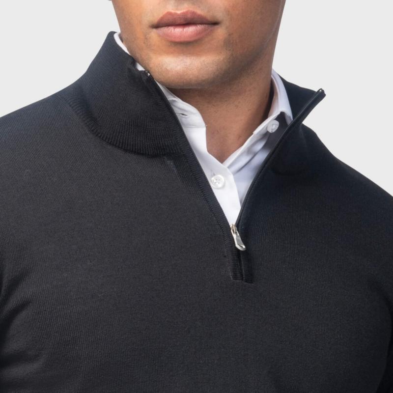 schwarzer pullover für männer von girav