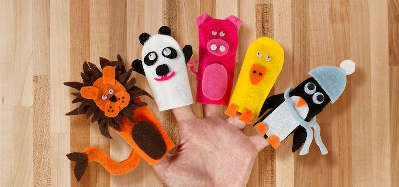 selbstgemacht geschenke bastel mit kindern fingerpuppen basteln