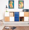 wandgestaltung ideen massivplattenversand de wohnzimmerwand gemälde bücherregal stuhl